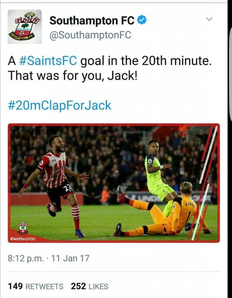 saints twitter clapforjack