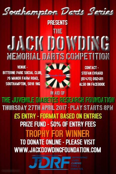 jack dowding darts competition